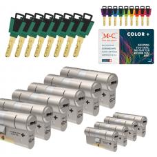 M&C Color+ cilinder met kerntrekbeveiliging (10x) SKG***