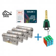 M&C Color+ cilinder met kerntrekbeveiliging (4x) SKG***