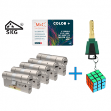 M&C Color+ cilinder met kerntrekbeveiliging (5x) SKG***