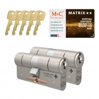 M&C Matrix cilinder met kerntrekbeveiliging (2x) SKG**