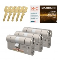 M&C Matrix cilinder met kerntrekbeveiliging (3x) SKG**