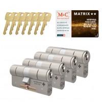 M&C Matrix cilinder met kerntrekbeveiliging (4x) SKG**