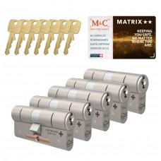 M&C Matrix cilinder met kerntrekbeveiliging (5x) SKG**