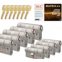 M&C Matrix cilinder met kerntrekbeveiliging (9x) SKG**