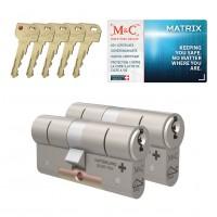 M&C Matrix cilinder met kerntrekbeveiliging (2x) SKG***