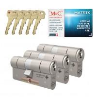 M&C Matrix cilinder met kerntrekbeveiliging (3x) SKG***