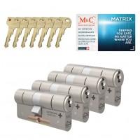 M&C Matrix cilinder met kerntrekbeveiliging (4x) SKG***