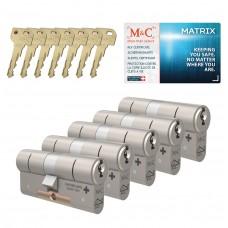 M&C Matrix cilinder met kerntrekbeveiliging (5x) SKG***
