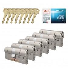M&C Matrix cilinder met kerntrekbeveiliging (6x) SKG***