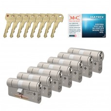 M&C Matrix cilinder met kerntrekbeveiliging (7x) SKG***