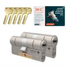 M&C Condor cilinder met kerntrekbeveiliging (2x) SKG***
