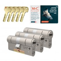 M&C Condor cilinder met kerntrekbeveiliging (3x) SKG***