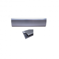 Doorline tochtborstel met metalen klep zilver
