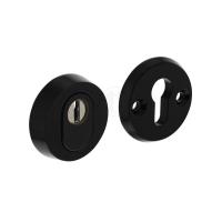 Kerntrek rozet zwart SKG*** rond 60mm