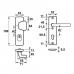 Axa 6675 kerntrekbeslag kortschild  S-knop F1 SKG***