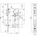 Toplock insteekslot PC72 SKG** Doorn 60mm - rechthoekig