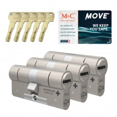 M&C Move cilinder met kerntrekbeveiliging (3x) SKG***