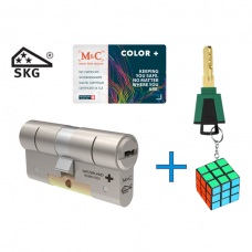 M&C Color+ cilinder met kerntrekbeveiliging (1x) SKG***