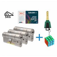 M&C Color+ cilinder met kerntrekbeveiliging (3x) SKG***