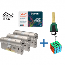 M&C Color+ cilinder met kerntrekbeveiliging (3x) SKG***