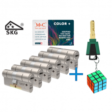 M&C Color+ cilinder met kerntrekbeveiliging (6x) SKG***