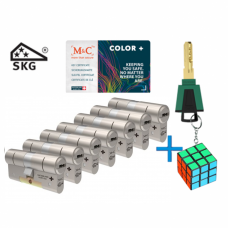 M&C Color+ cilinder met kerntrekbeveiliging (7x) SKG***