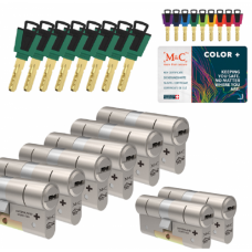 M&C Color+ cilinder met kerntrekbeveiliging (8x) SKG***