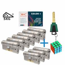 M&C Color+ cilinder met kerntrekbeveiliging (9x) SKG***