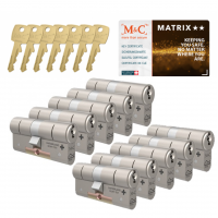 M&C Matrix cilinder met kerntrekbeveiliging (10x) SKG**