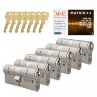 M&C Matrix cilinder met kerntrekbeveiliging (6x) SKG**