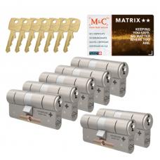 M&C Matrix cilinder met kerntrekbeveiliging (7x) SKG**