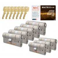 M&C Matrix cilinder met kerntrekbeveiliging (8x) SKG**