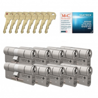 M&C Matrix cilinder met kerntrekbeveiliging (10x) SKG***