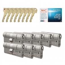 M&C Matrix cilinder met kerntrekbeveiliging (8x) SKG***