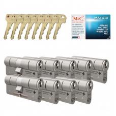 M&C Matrix cilinder met kerntrekbeveiliging (9x) SKG***