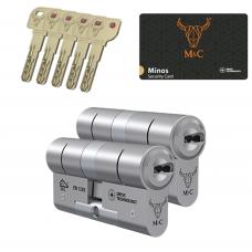 M&C Minos cilinder met kerntrekbeveiliging (2x) SKG***