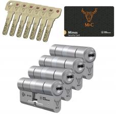 M&C Minos cilinder met kerntrekbeveiliging (4x) SKG***