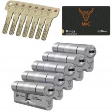 M&C Minos cilinder met kerntrekbeveiliging (5x) SKG***