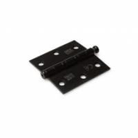 DX kogellager scharnier rechte hoeken 76X76 mm RVS zwart