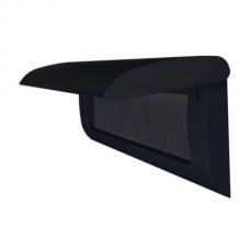 Doorline tochtborstel met klep zwart